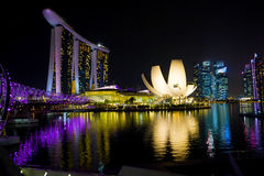 Singapore Marina Bay. The morning at Singapore Marina Bay Royalty Free Stock Photo