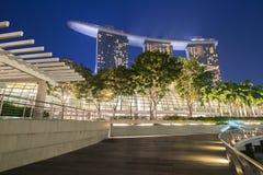Singapore. Marina bay,singapore at night Stock Photo