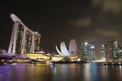 Singapore Marina Bay Night. Eastphoto, tukuchina,  Singapore Marina Bay Night Royalty Free Stock Photography