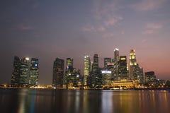 Singapore Marina Bay Night Royalty Free Stock Photo