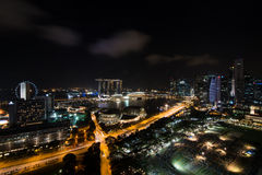 Singapore Marina Bay at night Royalty Free Stock Photos