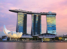 Singapore Marina Bay Sands Hotel Stock Photo