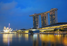 Singapore Marina Bay Sands Hotel Stock Image