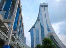 Singapore Marina Bay Sands Hotel Royalty Free Stock Photos