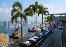 Singapore Marina Bay Sands Hotel Swimming Pool Royalty Free Stock Photography