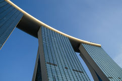 Singapore Marina Bay Sands Hotel Towers Royalty Free Stock Photo