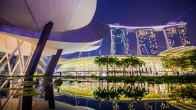 Singapore Marina Bay Sands Light Show stock video