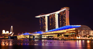Singapore Marina Bay Sands By Night Royalty Free Stock Images