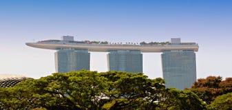 Singapore Marina Bay Sands and Skypark Stock Image