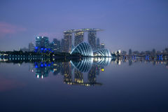 Singapore. Marina bay Sands a wonderful buildings of Singapore royalty free stock photos