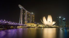 Singapore. Marina bay Sands a wonderful buildings of Singapore stock photography