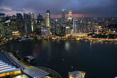 Singapore Marina Bay sikt Royaltyfri Foto