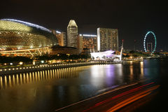 Singapore marina bay skyline Royalty Free Stock Photography