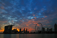 Singapore Marina Bay Sunset Royalty Free Stock Image