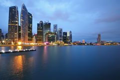 Singapore - marina bay walk Royalty Free Stock Photography