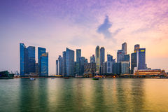 Singapore Marina Skyline Royalty Free Stock Images