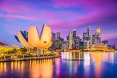 Singapore Marina Skyline Royalty Free Stock Image