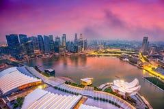 Singapore Marina Skyline Stock Photos