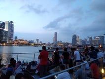 Singapore marinabay bayfront light show event