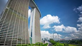 Singapore Marinabay sands Clouds Timelapse. 4k stock video