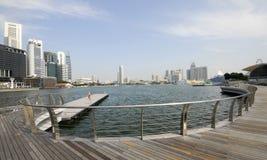 Singapore Marinafjärd Fotografering för Bildbyråer