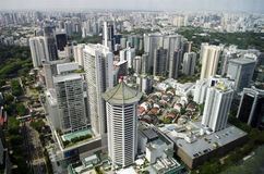 Singapore Marriott hotell och horisont Arkivbild