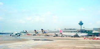 Singapore flygplats Arkivfoto