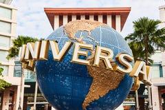 Singapore Singapore: Mars 19 2019: Universal Studios på den Sentosa ön, Singapore arkivbilder