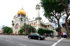 Singapore:Masjid Sultan Singapura Mosque Royalty Free Stock Image