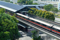 Singapore Mass Rapid Transit MRT Train Travel Stock Images