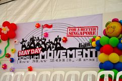 Singapore May Day Rally movement stage Stock Photography