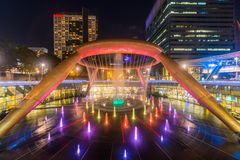 SINGAPORE-May 1, 2017 : landscape of Fountain of Wealth Suntec c. Ity in Singapore at night Stock Photos