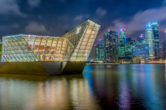 SINGAPORE-May 1, 2017 : landscape of LOUIS VUITTON at marina bay Royalty Free Stock Images