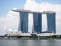SINGAPORE - MAY 31, 2015: The Marina Bay Sands Resort Hotel in Singapore. It is an integrated resort and the world's most expensiv Stock Image