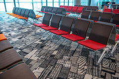 SINGAPORE - May 06, 2016: Seats inside airport terminal Stock Images