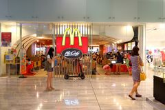 Singapore : Mcdonald. One of the many Mcdonald fast food store in Singapore Royalty Free Stock Photography
