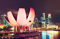 Singapore, mening op Wetenschap en Kunstmuseum Royalty-vrije Stock Fotografie