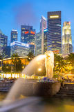 Singapore Merlion Immagini Stock