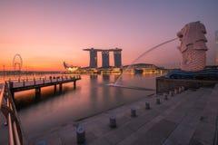 Singapore Merlion Immagini Stock Libere da Diritti