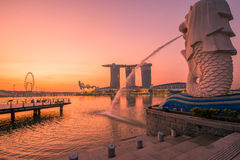 Singapore Merlion Fotografie Stock