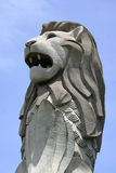 Singapore merlion statue stock image