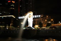 Singapore Merlion Foto de Stock Royalty Free