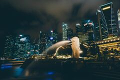 Singapore and Merlion Royalty Free Stock Image