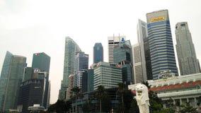 Singapore Merlion Cityscape Stock Photos