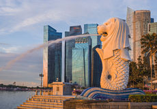 Singapore Merlion stock photo