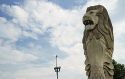 Singapore merlion. Huge Singapore merlion symbol on the island of Sentosa Stock Images