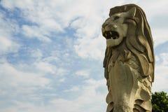 Singapore merlion. Huge Singapore merlion symbol on the island of Sentosa Stock Photos