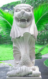 Singapore Merlion imitation in park of Thailand royalty free stock photo