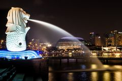 Singapore Merlion Park Stock Photo