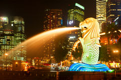 Singapore Merlion statue Stock Photography